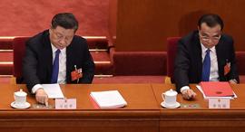 ראש ממשלת סין לי קצ'יאנג והנשיא שי ג'ינפינג, צילום: איי אף פי