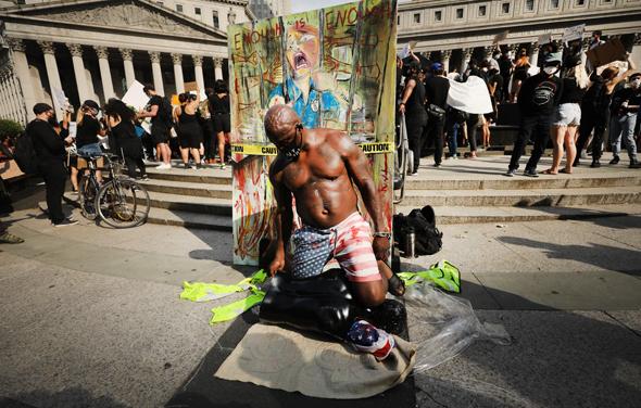 מחאה בניו יורק