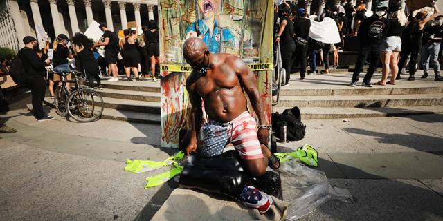 מחאה בניו יורק, צילום: גטי אימג