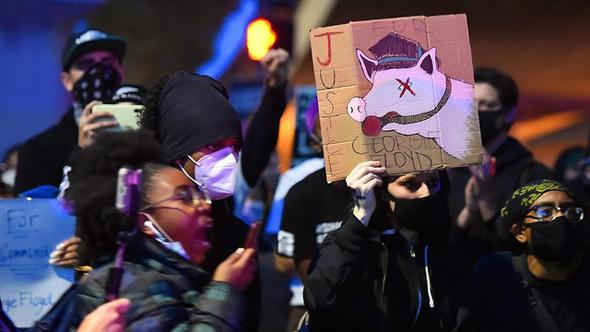 עימותים בהפגנה למען ג'ורג' פלויד באוקלנד קליפורניה