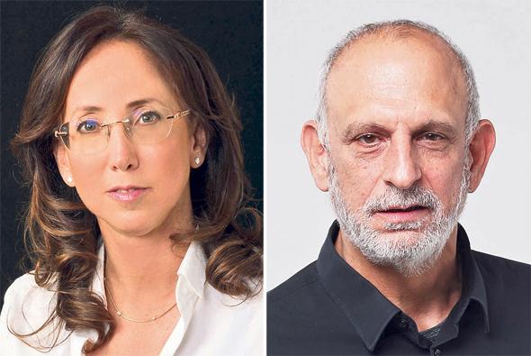 """מימין: מנכ""""ל רשות החדשנות אהרון אהרון ומנכ""""לית IATI קארין מאיר רובינשטיין"""