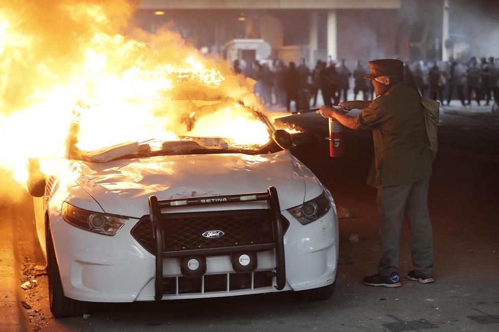"""המהומות בארה""""ב, צילום: AP"""