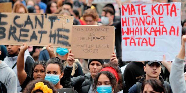 הפגנת הזדהות באוקלנד, צילום: איי פי