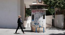 יהודה הלוי 70 תל אביב  פרויקט שלא מתאכלס בגלל עמוד המונע גישה ל חניון של בניין מגורים, צילום: אוראל כהן