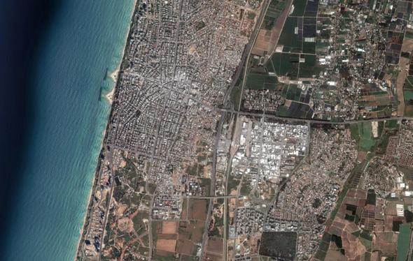המטרה: נתניה, צילום: Google Earth