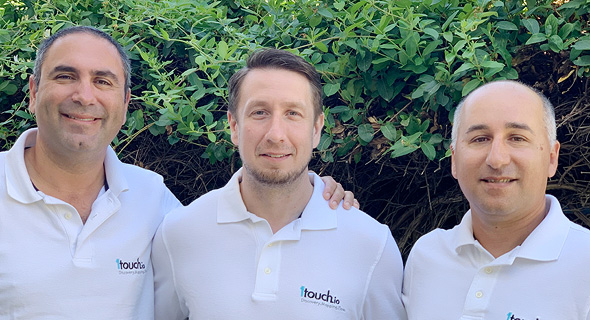1Touch co-founders Zak Rubinstein (left), Dimitry Shevchenko, Itzhak Assaraf