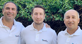 1Touch co-founders Zak Rubinstein (left), Dimitry Shevchenko, Itzhak Assaraf