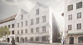 הדמיה בית הולדתו של היטלר עיר בראונאו Braunau אוסטריה לאחר השיפוץ, צילום: איי פי