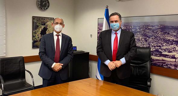 שר האוצר ישראל כץ ונגיד בנק ישראל אמיר ירון (ארכיון)