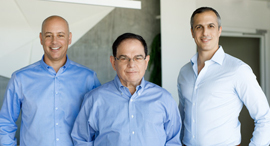From left to right: Barak Salomon, Yoram Oron, Yaniv Stern