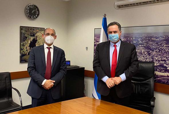 שר האוצר ישראל כץ ונגיד בנק ישראל אמיר ירון
