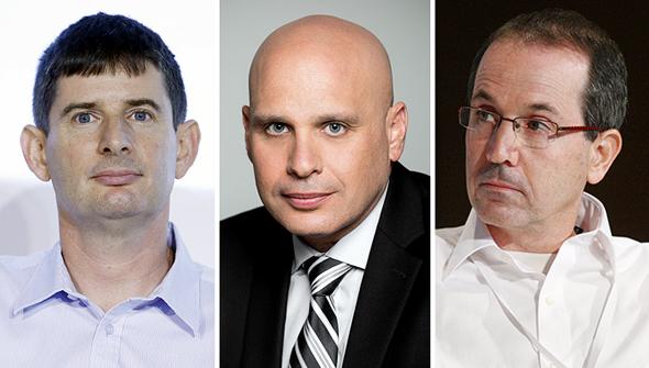 """מנכ""""לי חברות כרטיסי האשראי, מימין: רון פאינרו, מקס; לוי הלוי, כאל; רון וקסלר, ישראכרט"""