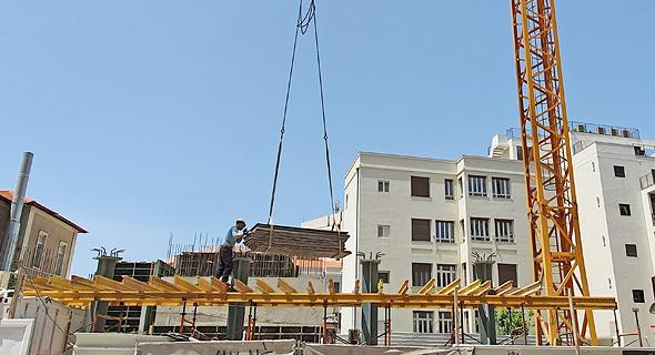 בנייה בתל אביב, צילום: אוראל כהן