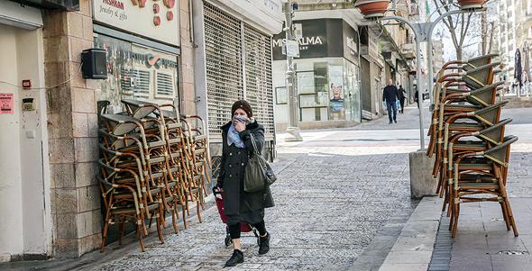 עסקים סגורים בירושלים. עצמאים נפגעים יותר