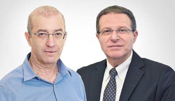 """מימין: מנכ""""ל שירות התעסוקה רמי גראור ומנכ""""ל ביטוח לאומי מאיר שפיגלר"""