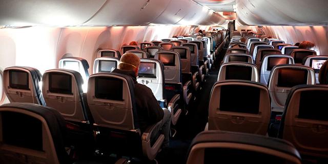 """טיסה של דלתא בארה""""ב בזמן הקורונה, צילום: אם סי טי"""