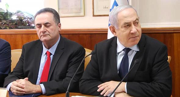 מימין: ראש הממשלה בנימין נתניהו ושר האוצר ישראל כץ, צילום: אבי כהן