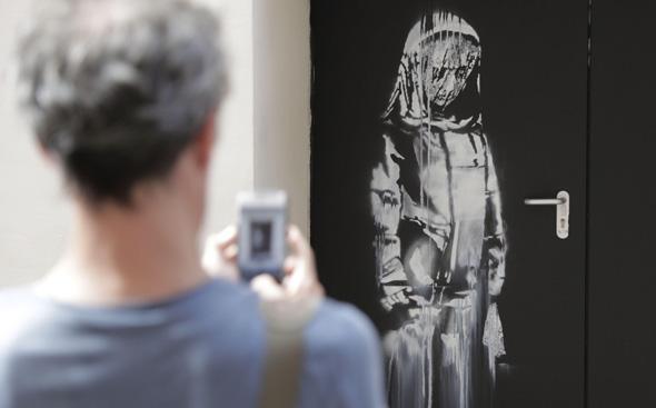 ציור הקיר בתאטרון הבטקלן בצרפת שנגנב