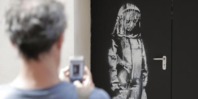 היצירה הגנובה של בנקסי אותרה באיטליה