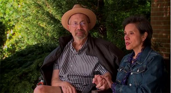 מייקל פלור ואשתו, צילום: q13fox