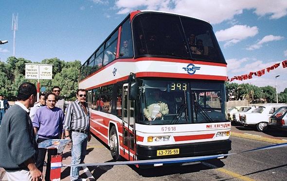 אוטובוס דו קומתי אגד שנות ה-90, צילום: באדיבות אגד