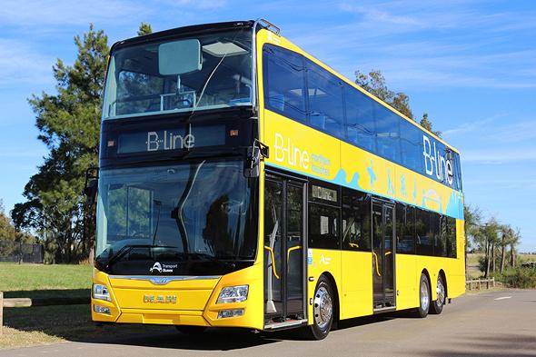 אוטובוס דו קומתי של חברת מאן, צילום: באדיבות מאן