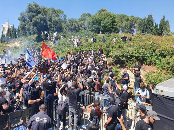 מחאת תעשיית התרבות מול הכנסת
