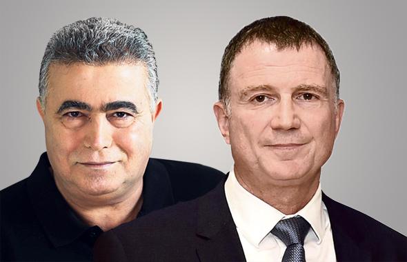 מימין יולי אדלשטיין ו עמיר פרץ, צילומים: יואב דודקביץ, זיו קורן