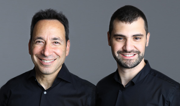 Salt Security co-founders Roey Eliyahu (right) and Michael Nicosia. Photo: Sally Ben Arie