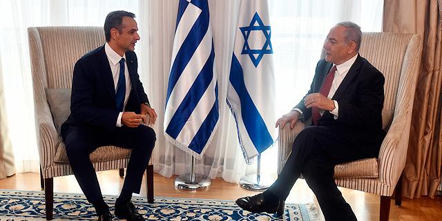 """בנימין נתניהו וראש ממשלת יוון קיריאקוס מיצוטקיס, צילום: חיים צח לע""""מ"""