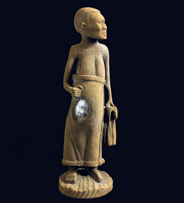 פסל חול בהדפסת תלת מימד של ערן לדרמן, צילום: הדר סייפן
