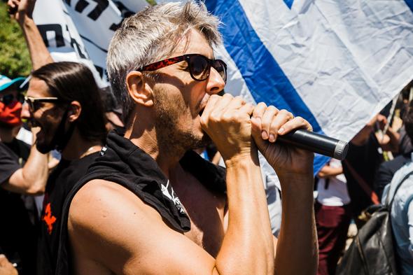 גרין בהפגנה למען התרבות, צילום: פרי מנדלבוים