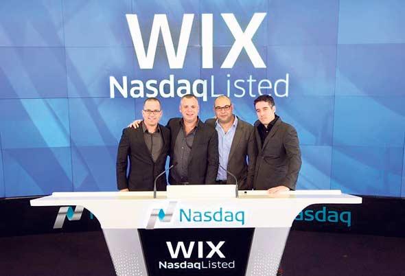 The Wix team at the Nasdaq exchange. Photo: Courtesy