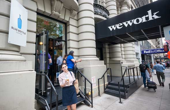 WeWork offices in New York City. Photo: Shutterstock
