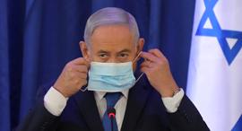 בנימין נתניהו ראש הממשלה מסכה קורונה יוני 2020, צילום: רויטרס