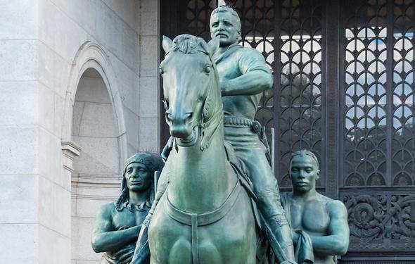הפסל של הנשיא לשעבר תאודור רוזוולט