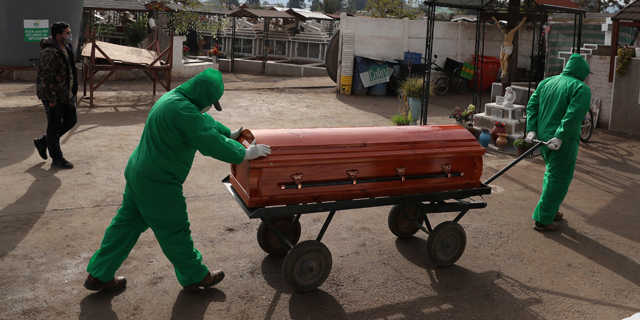 לוויה של חולה קורונה בצ
