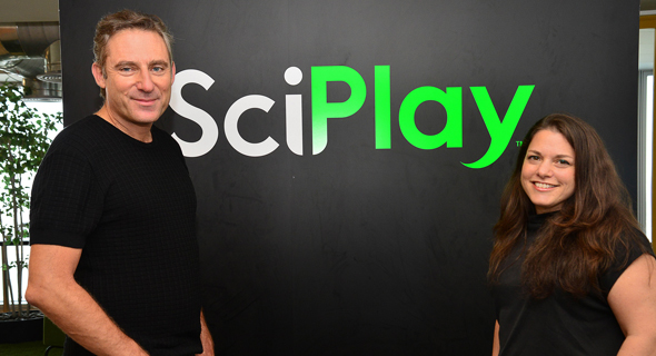 SciPlay's Noga Halperin and Alon Barzilai. Photo: Tamar Murphey