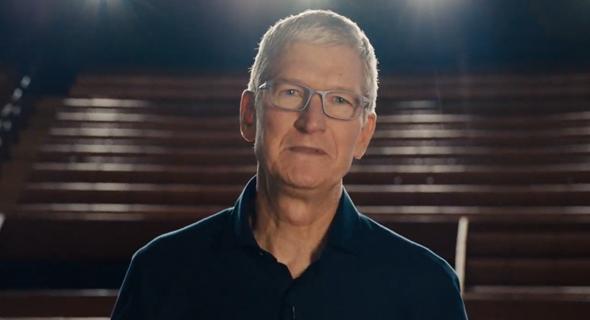 """טים קוק מנכ""""ל אפל WWDC 2020 כנס מפתחים מקוון של אפל, צילום מסך: מתוך WWDC 2020"""