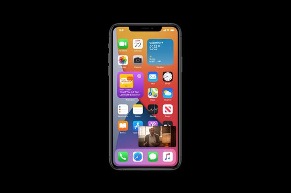 תמונה בתוך תמונה ב-iOS 14, צילום מסך: מתוך WWDC 2020