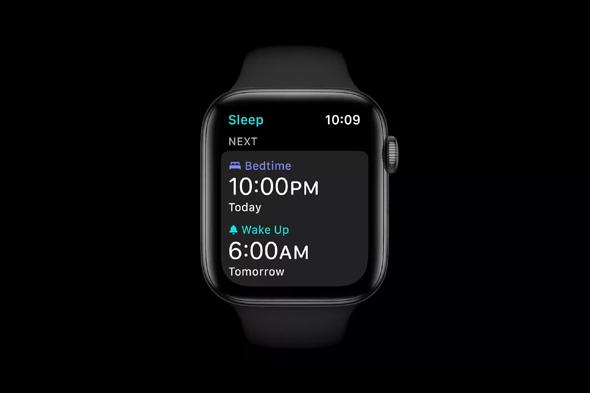 מדידת שעות שינה באפל ווטש, צילום מסך: מתוך WWDC 2020