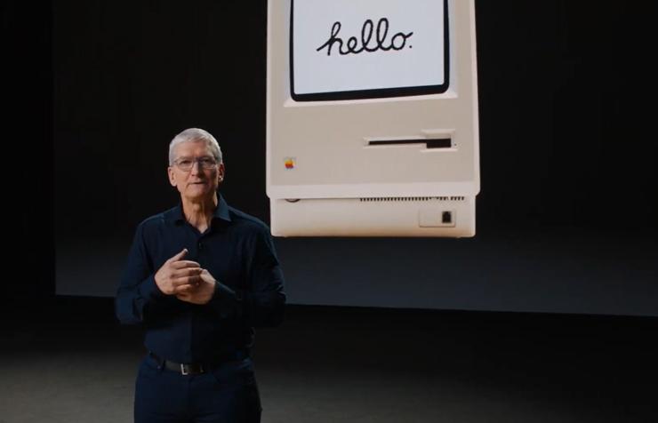 טים קוק מכריז אפל מחליפה את מעבדי אינטל במעבדים משלה, צילום מסך: מתוך WWDC 2020