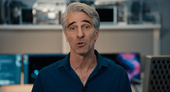 קרייג פדריקי מציג את המעבד החדש של אפל, צילום מסך: מתוך WWDC 2020