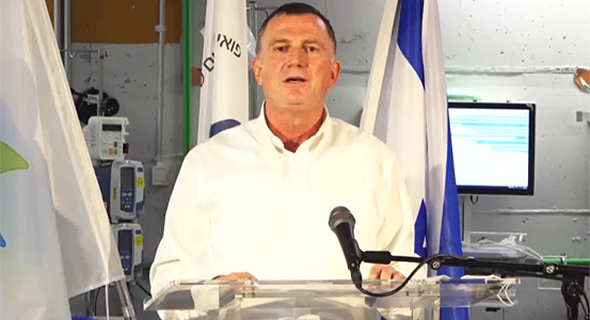 שר הבריאות יולי אדלשטיין מסיבת עיתונאים בית חולים שיבא תל השומר, צילום: נדב אבס