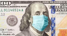 """כלכלת ארה""""ב דולר קורונה מיתון שפל מסכה, צילום: גטי"""