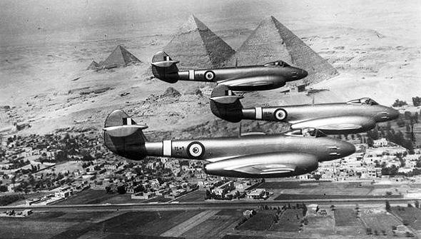 מטוסי מטאור מתוצרת בריטניה, בשירות חיל האוויר המצרי