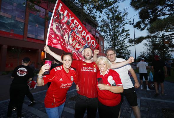 חגיגות האליפות של ליברפול, יוני 2020, צילום: גטי אימג