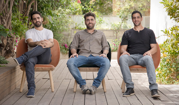 Artlist co-founders Ira Belsky (left) Itzik Elbaz, and Eyal Raz. Photo: Artlist