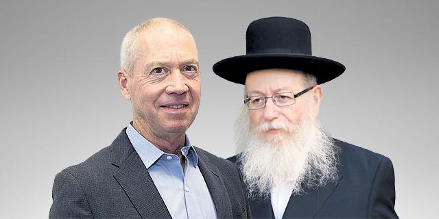 מימין: יעקב ליצמן ויואב גלנט. אחד מתכנן, שני מבטל, צילומים: שאול גולן, נמרוד גליקמן