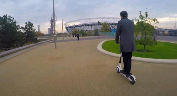 קורקינט של בירד בפארק האולימפי בלונדון